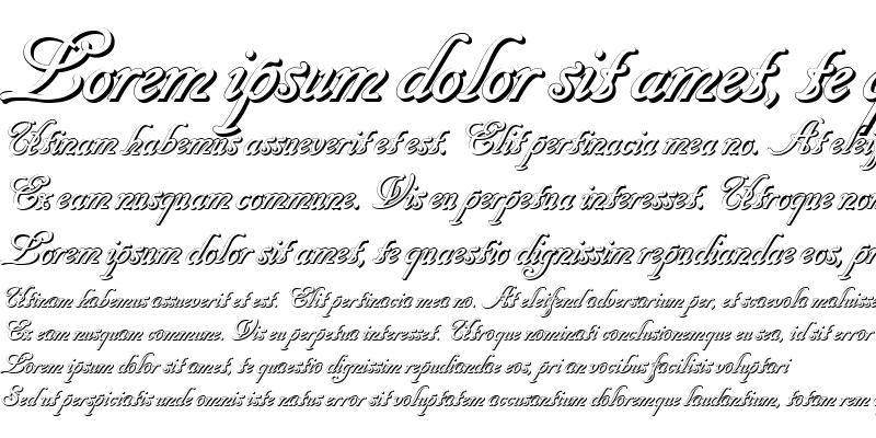 Sample of Cancellaresca Script Shadow
