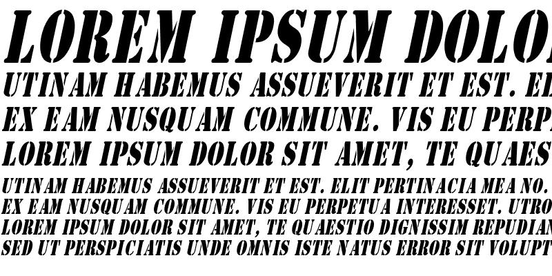 Sample of CargoCondensed Italic
