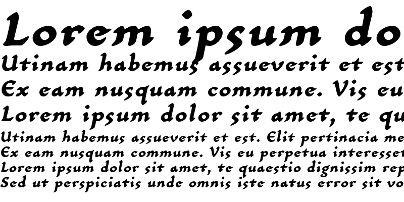 Sample of CarlinScript LT Std BoldIt