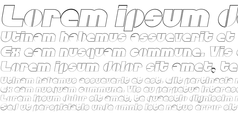 Sample of CarolineBeckerOutline Italic
