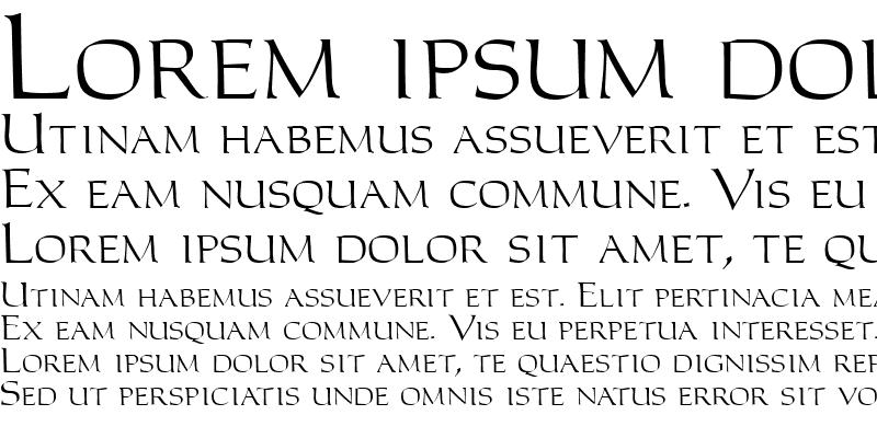 Sample of Carolus Roman Regular