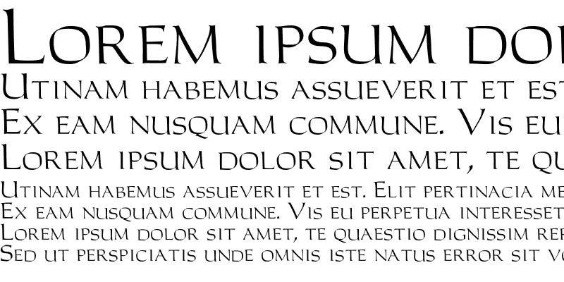 Sample of Carolus Roman