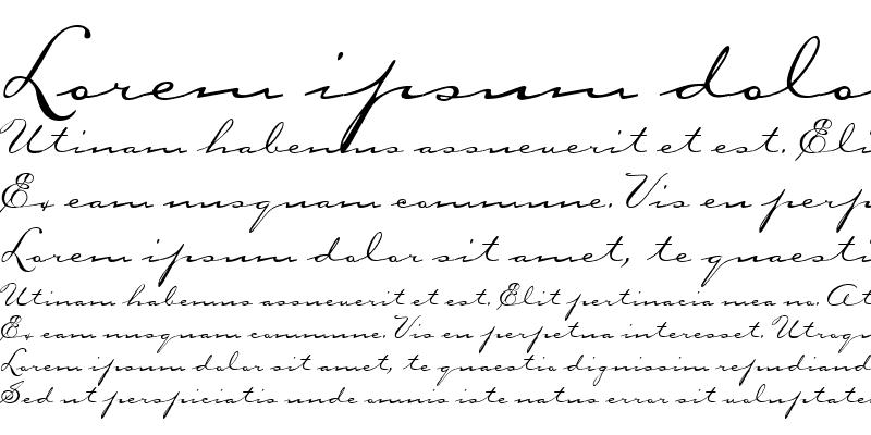 Sample of CarpenterScript Regular