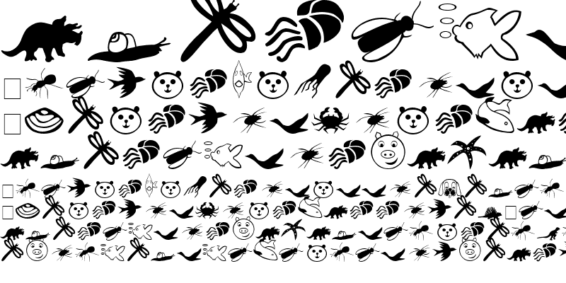Sample of Carr Animal Dingbats Regular