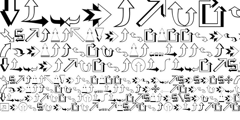 Sample of Carr Arrows (outline) Regular
