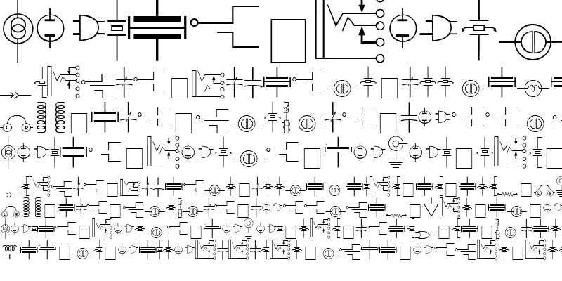 Sample of Carr Electronic Dingbats