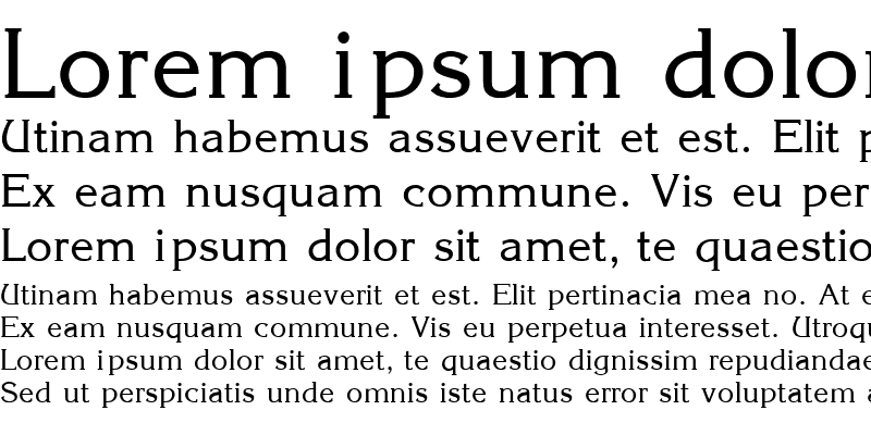 Sample of CARRINA Regular