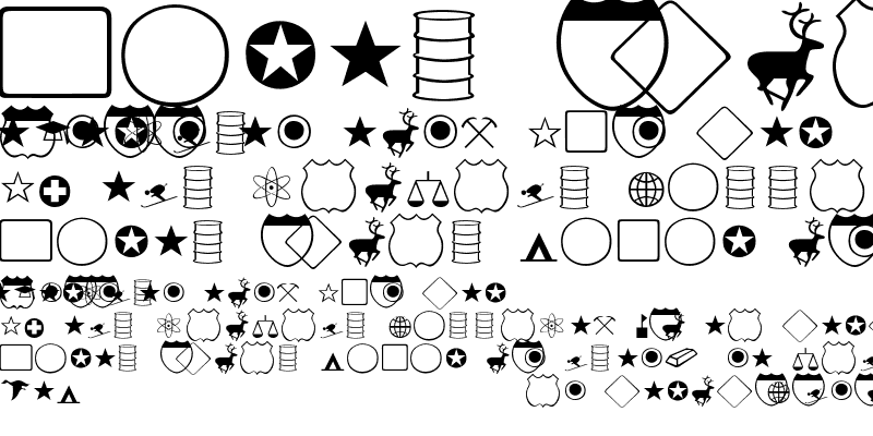 Sample of Carta-dingbats
