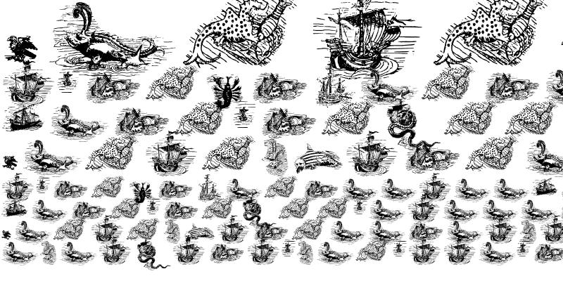 Sample of Carta Marina Dragons Here