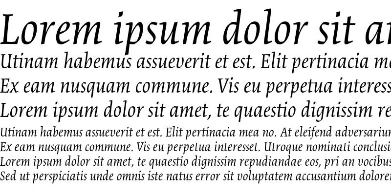 Sample of Cartier Book Std Italic