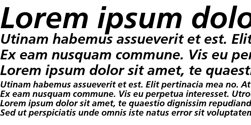 Sample of CartoGothic Std Bold Italic
