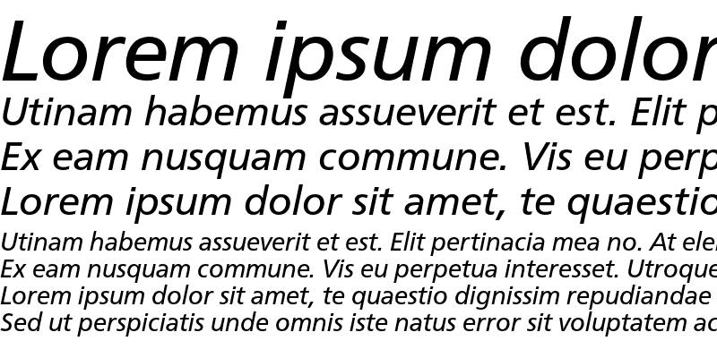 Sample of CartoGothic Std Italic