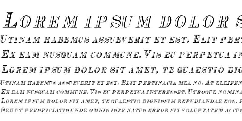 Sample of CashCondensed Italic
