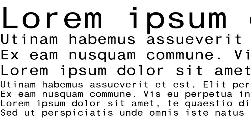 Sample of CashEF Monospace Regular