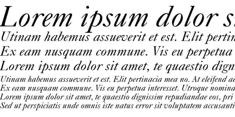 Sample of Caslon 540 Italic