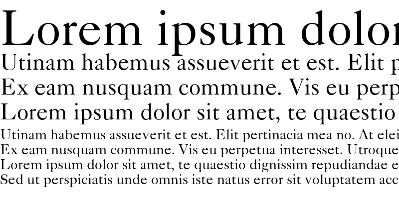 Sample of Caslon 540 Roman