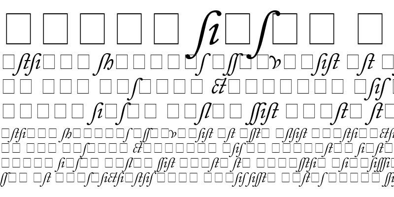 Sample of Caslon Alternate SSi