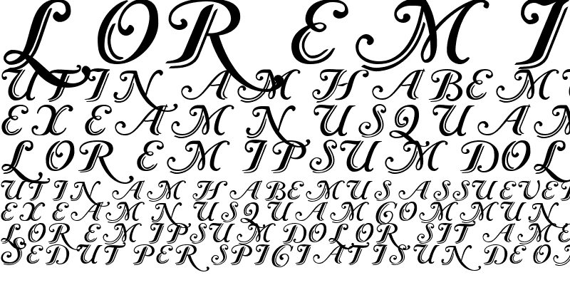 Sample of Caslon Calligraphic Initials Regular