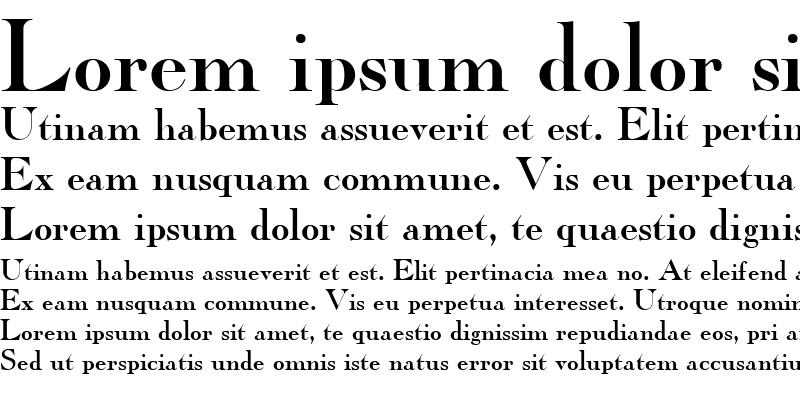 Sample of Caslon ICG