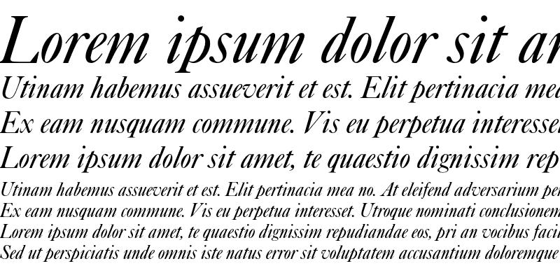Sample of Caslon Italic Plain