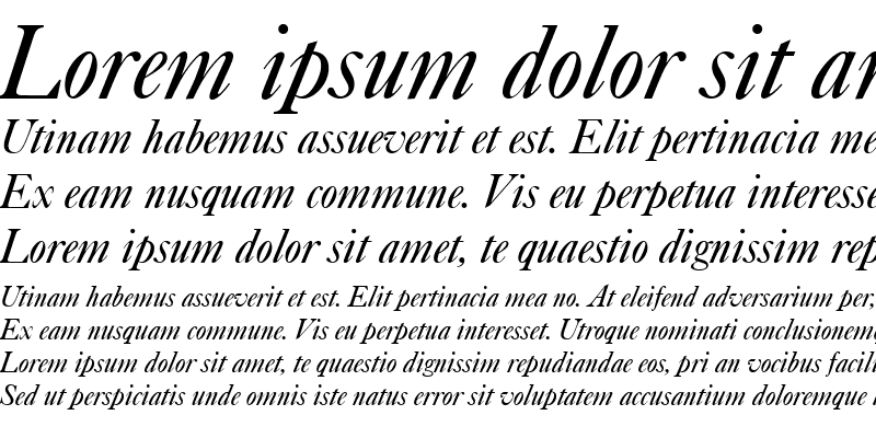 Sample of Caslon Italic