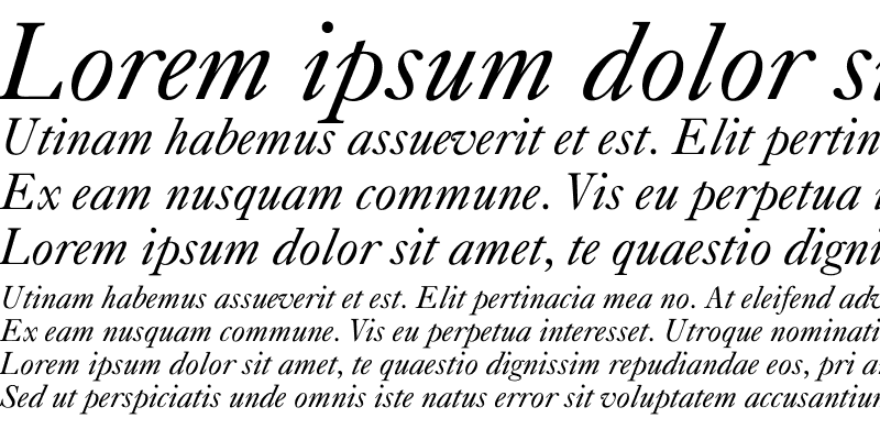 Sample of Caslon-Italic