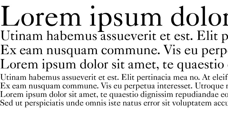 Sample of Caslon