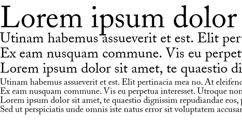 Sample of Caslon SSi