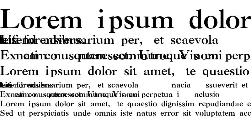 Sample of Caslon-Thin