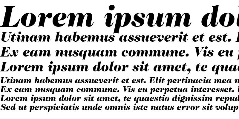 Sample of Caslon Two Black SSi