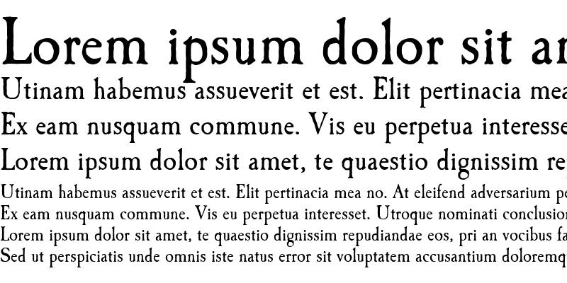 Sample of CaslonAntique