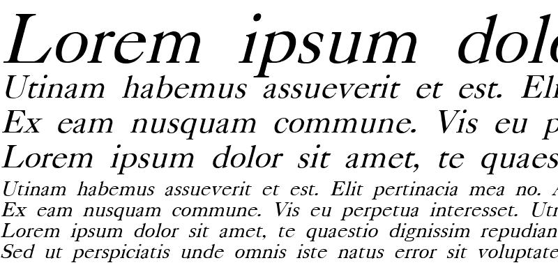 Sample of CASLONB