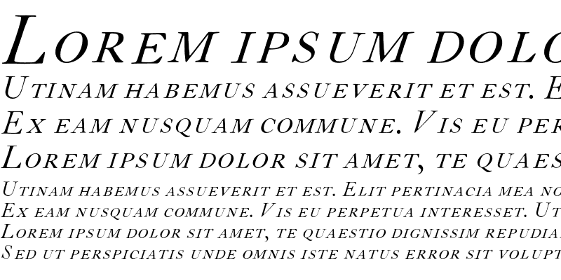 Sample of CaslonH-SC-Italic