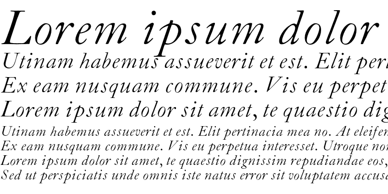 Sample of CaslonL-Italic Regular