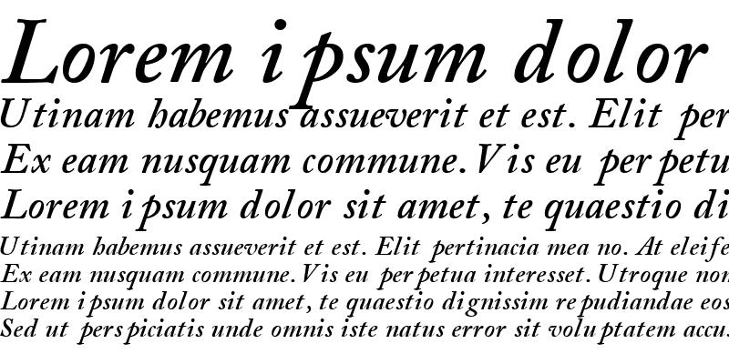 Sample of CaslonSSK Bold Italic