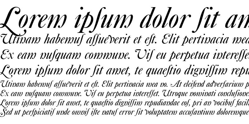 Sample of CaslonSwaAltDEE Italic