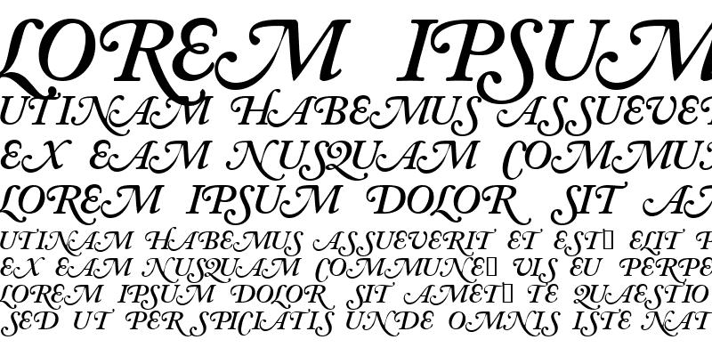 Sample of CaslonSwashCapsSSK SemiBoldItalic