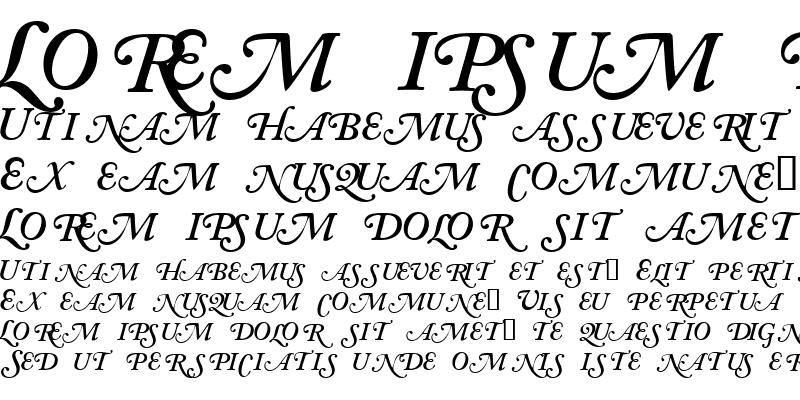 Sample of CaslonSwashSCapsSSK SemiBoldItalic