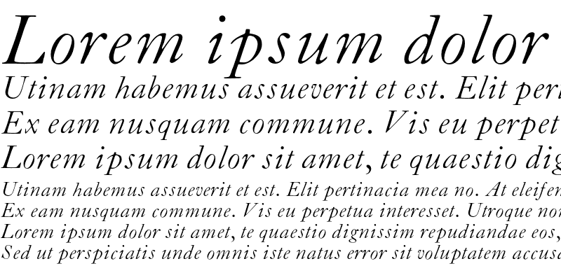 Sample of CaslonZH-Italic