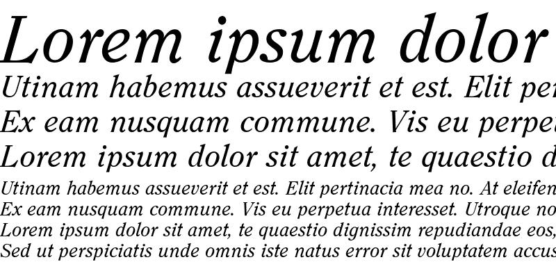 Sample of CasualSerif-Italic Regular