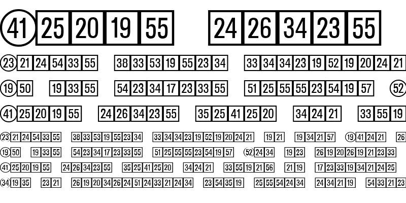 Sample of CatalogNumbers Regular