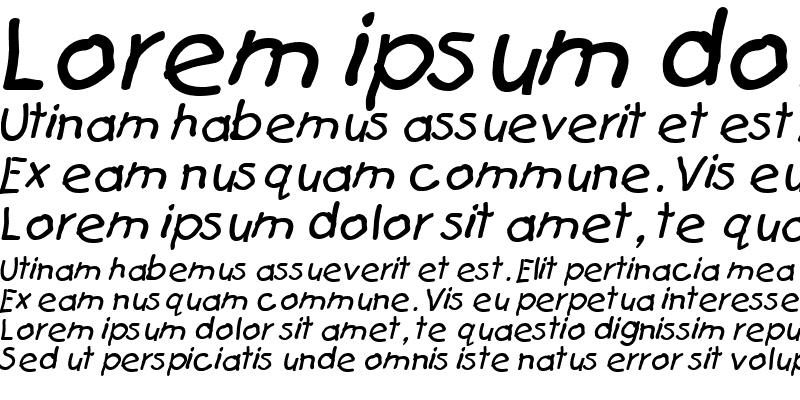Sample of Catchup Italic
