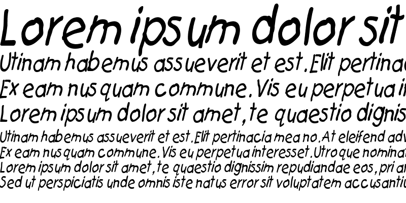Sample of Catchup Thin Italic