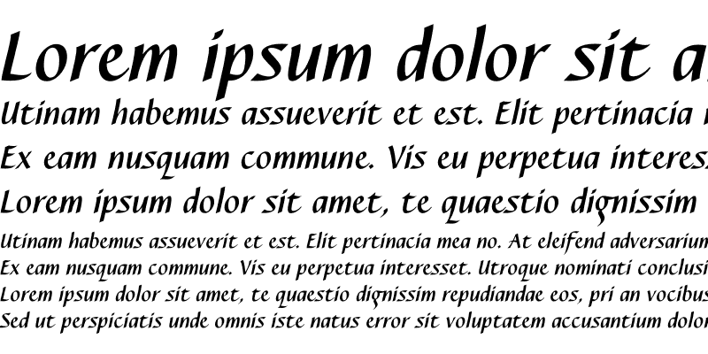 Sample of Caterina Bold Italic