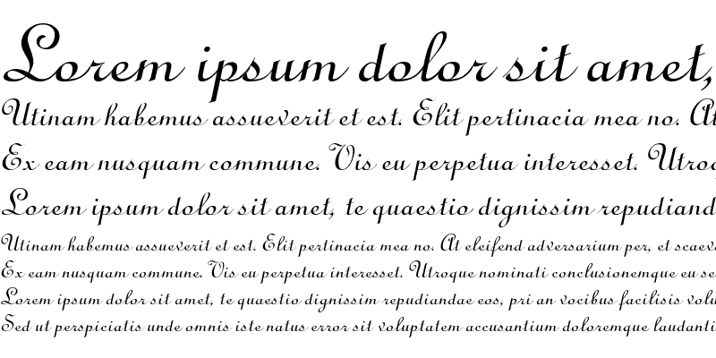 Sample of Cathedral Italic