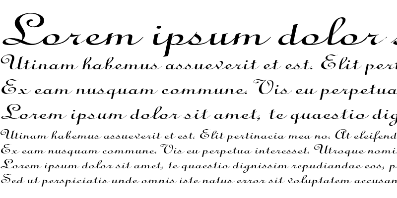 Sample of CathedralExtended Italic