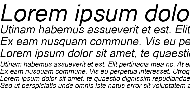 Sample of Catriel Italic