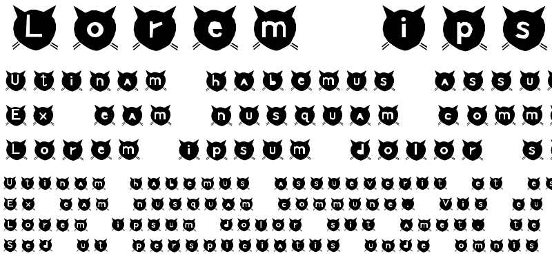 Sample of cats MEOW Regular