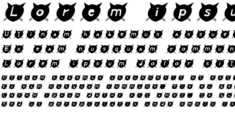 Sample of CatsMeow Italic