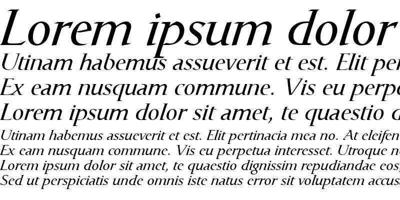 Sample of Catull Italic